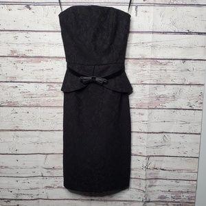 White House Black Market Dress Size 0 Lace Black
